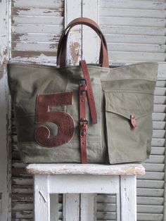 Image of Sac cabas Numéroté  {SNC-4663} Denim Purse, Tote Backpack, Tote Bags, Couture Sewing, Big Bags, Corporate Gifts, Canvas Leather, Leather Purses, Purses And Bags