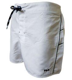fe2a59ed13 (eBay link) MENS NEW FILA WHITE SWIM BOARD SHORTS SIZE XL 36 WAIST AUTHENTIC