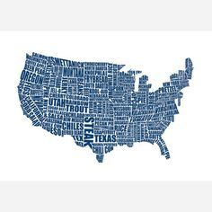 American Gastronomy Map