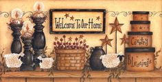 Welcome to Our Home by Mary Ann June art print