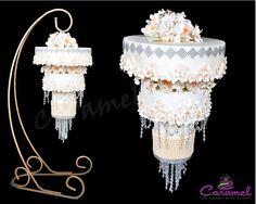 Indian Weddings Inspirations. Upside down Wedding Cake. Repinned by #indianweddingsmag indianweddingsmag.com #weddingcake