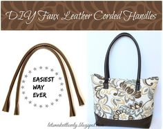 DIY Round Corded Bag Handles the Easiest Way Ever