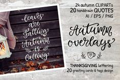 Ad: Autumn Thanksgiving Overlays Bundle by Katrinelly on Hey everyone! I'm happy to introduce a new Autumn and Thanksgiving Vector Overlay Letterings bundle. All elements are handwritten and hand Handwritten Quotes, Handwritten Letters, Business Illustration, Pencil Illustration, Business Card Logo, Business Card Design, Business Flyer, Thanksgiving Letter, Autumn Doodles