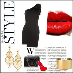 A fashion look from June 2012 featuring one shoulder dress, handbag purse and gold jewellery. Browse and shop related looks. Shoulder Dress, One Shoulder, Dating, Fashion Looks, Purses, Night, Polyvore, Shopping, Image