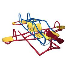 Lifetime Ace Flyer Airplane Teeter-Totter Red/Yellow - Outdoor Games And Toys, Swing Sets/Bounce Houses at Academy Sports