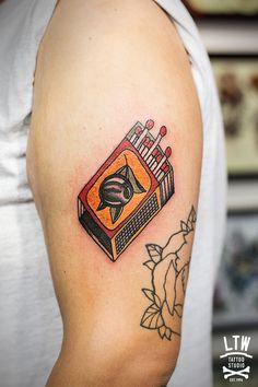 ltwtattoo:  Matchbox by Rodrigo DC, LTW Tattoo Studio.  nice!!!