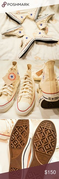 NEWConverse Made in the USA High Top Sneakers New. Rare find. Collector's item. Price is per pair. Men's Sz 7.5. Women's Sz 9.5. Same day shipping. 20% discount on bundle of 3 or more. Reasonable offers accepted. Converse Shoes Sneakers