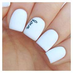 White Love Nails
