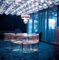 Verner Panton, Copenhagen, 1972 - very lounge-like. Incredible table and chairs