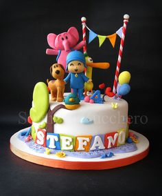 Boys 1st Birthday Party Ideas, Baby Birthday Cakes, 1st Boy Birthday, Cake Pocoyo, Beautiful Cakes, Amazing Cakes, Lalaloopsy, Bday Girl, Cake Cover