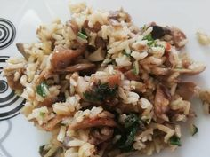 Gombás barnarizs Risotto, Grains, Ethnic Recipes, Food, Fungi, Meals, Yemek, Eten