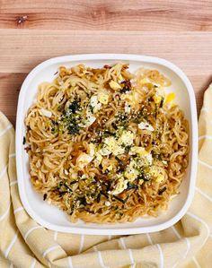 TikTok Ramen Recipe Spicy Recipes, Lunch Recipes, Wine Recipes, Asian Recipes, Vegetarian Recipes, Healthy Recipes, Ramen Noodle Recipes, Ramen Noodles, Kitchen Recipes