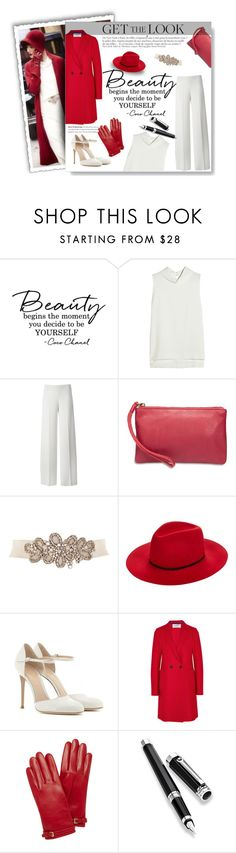 """""When in doubt wear red."" - Bill Blass"" by hae-lee ❤ liked on Polyvore featuring Joseph, Anja, P.A.R.O.S.H., Lucky Brand, Janessa Leone, Gianvito Rossi, Harris Wharf London, Mulberry and Montegrappa"