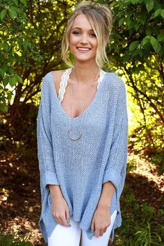 Love Me Like You Mean It Knit Sweater in Serenity