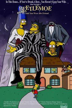 50 pósters de parodias de series y películas con personajes de Los Simpson