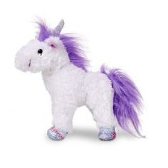 "Melissa And Doug Melissa & Doug Misty Unicorn Stuffed Animal - Misty Unicorn stands proudly on weighted, sparkly ""hooves"" that match her shimmering horn. The fluffy mane and tail make this stuffed animal extra-magical - and extra huggable! Dog Costumes, Halloween Costumes For Kids, Pet Toys, Baby Toys, Kids Toys, Unicorn Stuffed Animal, Stuffed Animals, Stuffed Toys, White Unicorn"