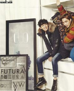 Exo vogue girl november Chanyeol & Kai wow! So pretty!