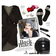 """""""Back to Black - BellaStarr Hats 27/35"""" by federica-m ❤ liked on Polyvore featuring La Perla, Cult Gaia, Cristabelle, H&M, Bobbi Brown Cosmetics, black, blackandwhite, slides, CircleBags and BellaStarr"""