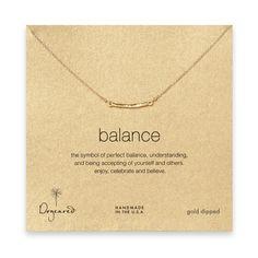 Balance Bar necklace gold dipped