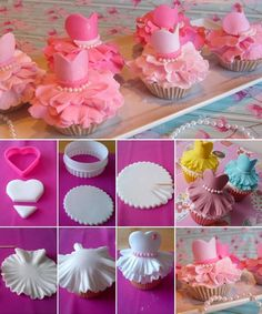 Cute Ballerina Cupcake Tutorial is Here for You to Try - http://www.stylishboard.com/cute-ballerina-cupcake-tutorial-try/