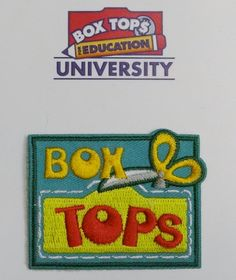 It's been a few years since I was a Girl Scout, but imagine my pride when our local Girl Scout troop presented me with my Official Box Tops patch!