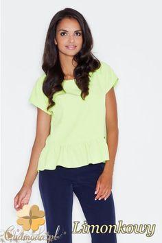 Bluzka baskinka na lato marki FIGL.  #cudmoda #moda #ubrania #odzież #clothes #blouse #bluse