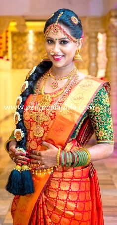 Beautiful Bride in Red Kanjeevaram saree and poolajada by Priyamani Pondicherry branch Order Fresh flower poolajada, bridal accessories from our local branches present over SouthIndia, Mumbai, Delhi, Singapore and USA. Artificial Flowers For Sale, Artificial Garden Plants, Artificial Plant Wall, Big Plants, Tall Plants, Water Plants, Indoor Plants, Cool Ideas, Diy Ideas