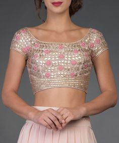 Nude Pink Resham and Gota Patti Hand Embroidered Lehenga Lehenga Designs, Indian Dresses, Indian Outfits, Shadi Dresses, Indian Clothes, Pakistani Dresses, Lehenga Blouse, Choli Dress, Lehenga Choli