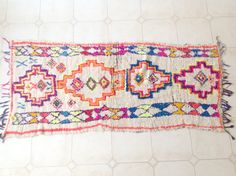 AZILAL. Vintage Moroccan Rug. Wool by theboucherouiteshop on Etsy