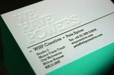 Like the letterpressed business cards