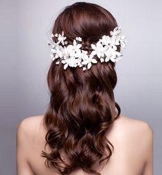 ヘッドバンド 花嫁髪飾り ヘアアクセサリー プリンセスタイプ_画像1