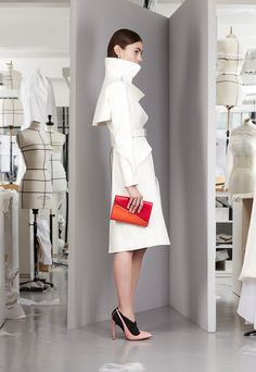 Marine Deleeuw  @ Christian Dior Pre-Fall 2013 lookbook.