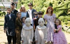 All of the peculiar children in an onset photo looking a bit less peculiar from Miss Peregrine's Home for Peculiar Children. This gives us a peek at Cameron King who plays Millard, the invisible boy.