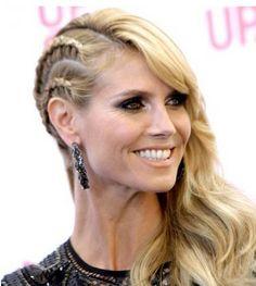 Heidi Klum half hawk reverse African braid hairstyles