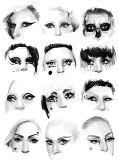 "Lady Gaga's ""Born This Way"" Era eye makeup // speedpaints"
