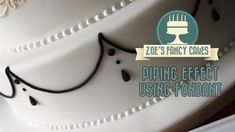 Piping effect on a cake using fondant How To Cake Tutorial