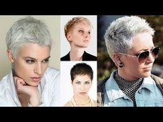 +50 Pixie and Very Short Haircut Trends in 2017 - Women's Short Hair Ideas - YouTube