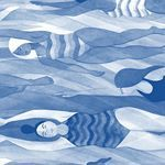 by @EleniKalorkoti #verao #elenikalorkoti #ilustracao #illustration #blue #azul #followthecolours