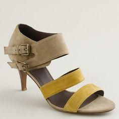 break my little shoe heart - nude and yellow!  These would look great with so many different outfits