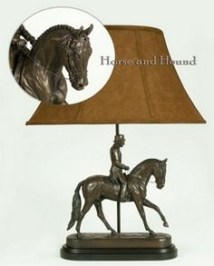Dressage Lamp Gentleman Rider Lamps - Lamps - By OK Castings at Horse and Hound Gallery $349.
