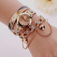 Women Watches 2019 Relogio Feminino PU Leather Rhinestone Rivet Chain Quartz Wristwatch Bracelet Watch Women Montre Femme Gift-in Women's Watches from Watches on Pearl Bracelet, Women's Dress Watches, Wrist Watches, Women's Watches, Cheap Watches, Ladies Watches, Diamond Watches, Gold Watches