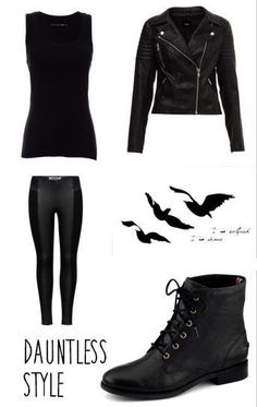 """Divergent """"Dauntless"""" Cosplay by Divergent. Simple, black and mobile - DIY Clothes Ideas Divergent Costume, Divergent Outfits, Divergent Dauntless, Divergent Fashion, Fandom Outfits, Divergent Insurgent Allegiant, Divergent Fandom, Divergent Series, Character Halloween Costumes"""
