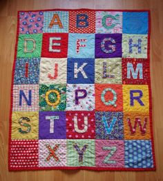 Crayon Box Alphabet Quilt Pattern by SarahBellumQuilts on Etsy ... : alphabet quilt patterns - Adamdwight.com