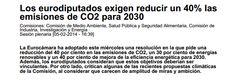 Eurocámara reclama disminuir un 40% las emisiones de #CO2 incrementar el 30% del #consumo en #energias renovables y mejorar la eficiencia energética para 2030