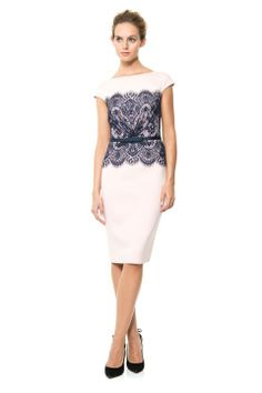 Neoprene and Lace Overlay Dress  Wedding guest