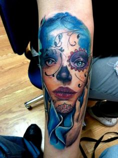 BEAUTIFUL DAY OF THE DEAD GIRL.