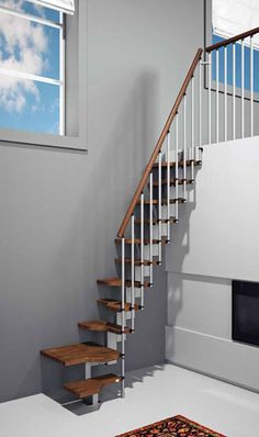 cool modular stairs for tiny spaces. I have pinned this before, but I seriously think this is the greatest thing I have seen for reaching a loft sleeping space!!!
