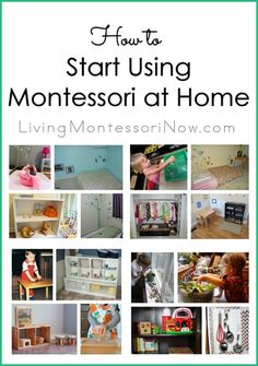 It seems overwhelming. What should you do first? What's the best way to start using Montessori at home? Here, you'll find resources and guidelines to help you get started!