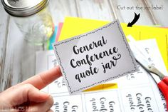 Need an idea to help you remember the April 2016 General Conference talks? Why not try a General Conference Quote Jar? Free Printables on Little LDS Ideas