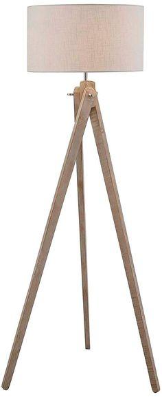 wolcott white wash wood tripod floor lamp.